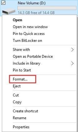 choose format menu