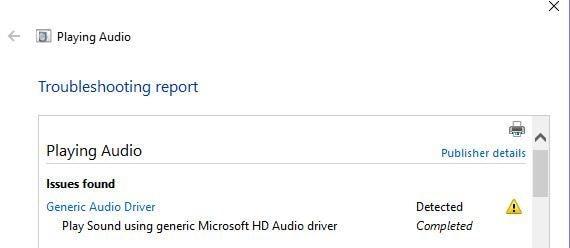 driver de áudio genérico