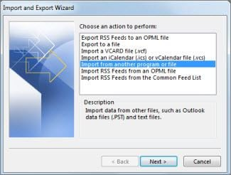 import data from old pst 1