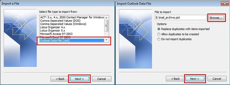 import data from old pst 2
