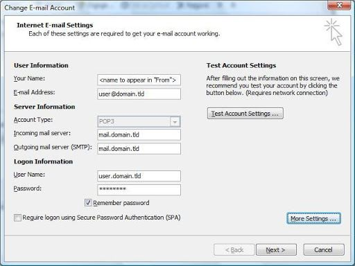 more settings highlighted