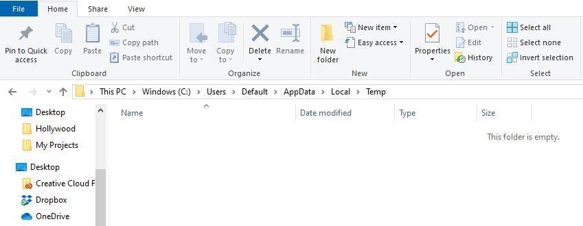 deleting temp files