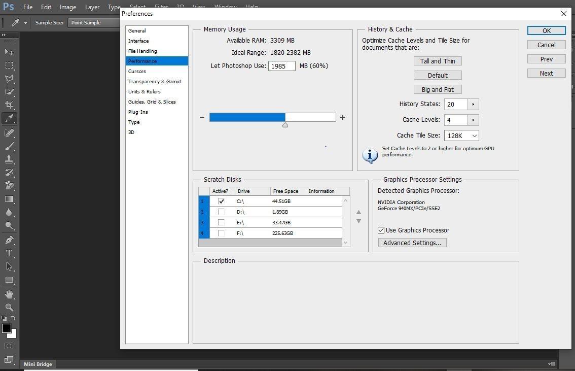 adjusting memory sliders to increase the Ram memory