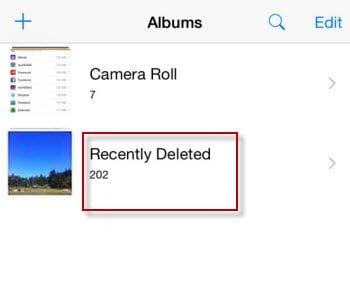 recently deleted album