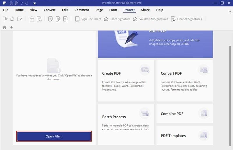 remove pdf via pdfelement 1