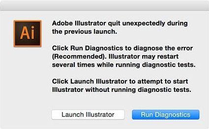 run diagnostics illustrator