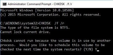 run sfc and chkdsk 3
