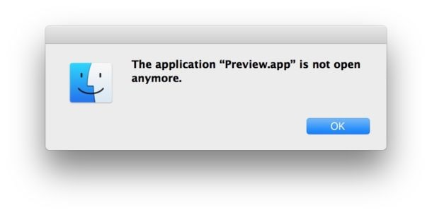 the application preview app is not open anymore