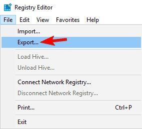 arrow pointing export
