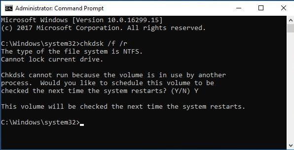 check error in hard drives