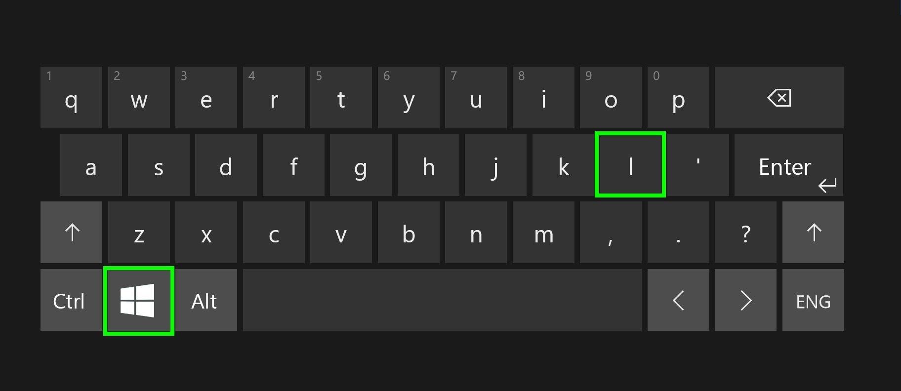click on windows and i key
