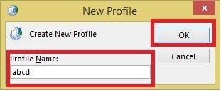 create new profile 4