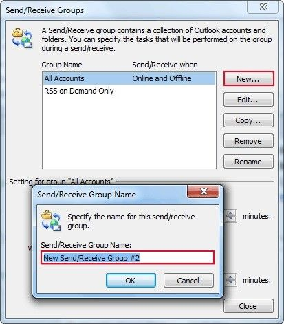 create send receive groups 2