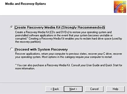 create vaio recovery disk 3
