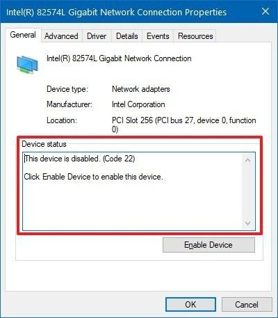 device status