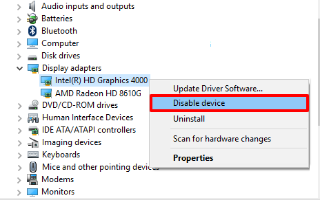 disable driver