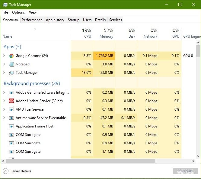 end outlook on taskmanager 2