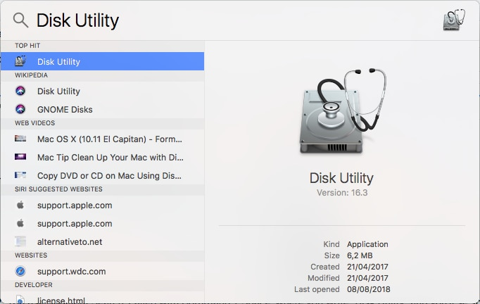 disk utility tool
