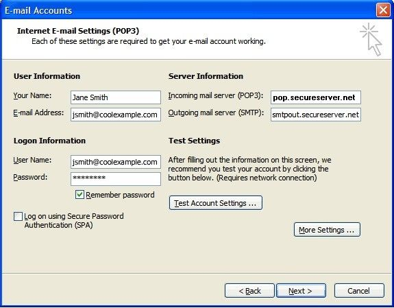 outlook account settings 3