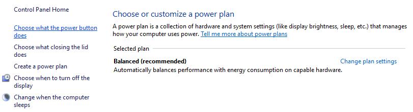power button option