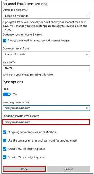 reconfigure smtp settings 5