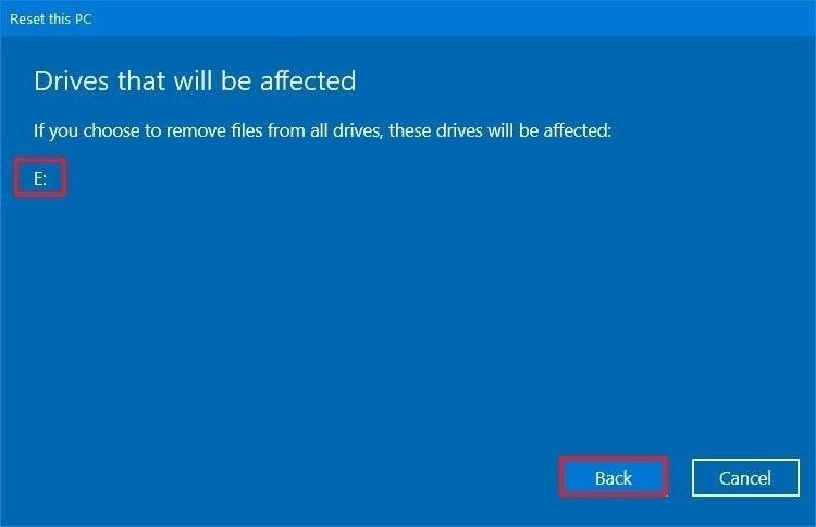 reset windows 10 5