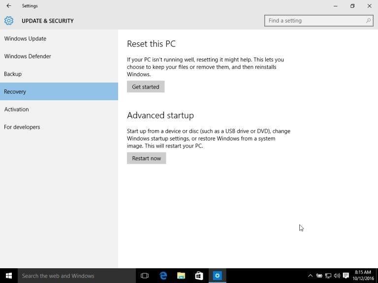 reset windows 8 10 dell 1