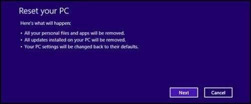 reset windows 8 10 dell 5