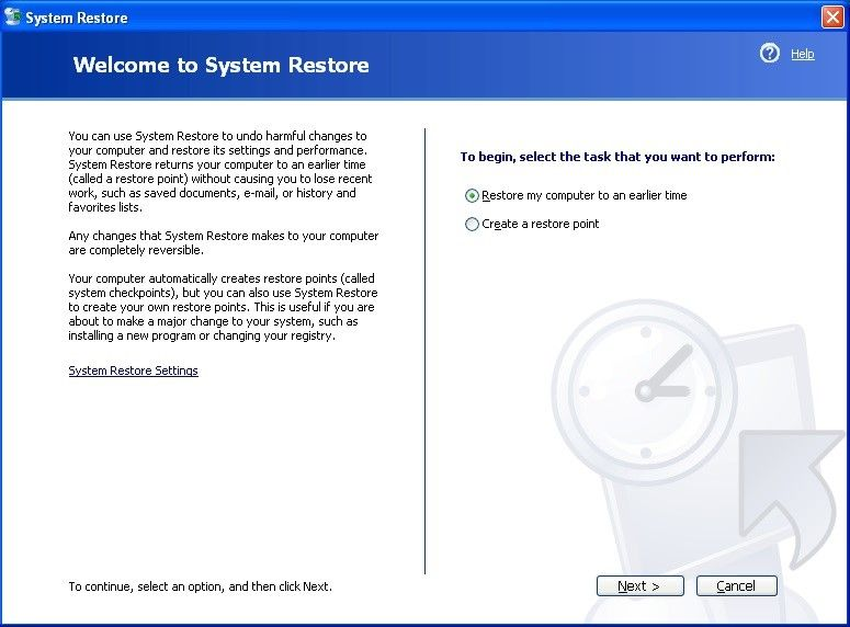 using system restore 3