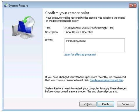 using system restore 4