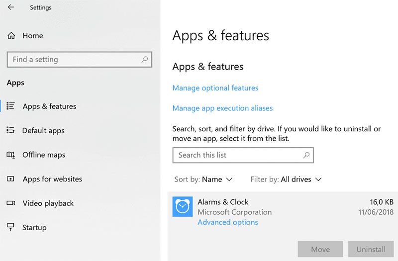 window 10 app features