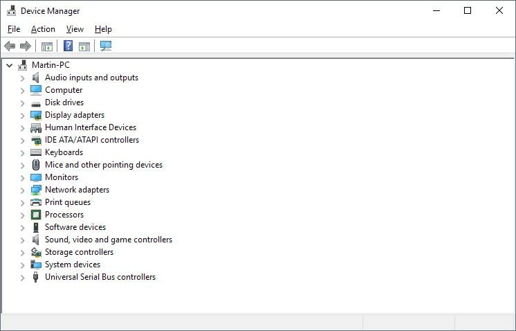 window 10 device manager