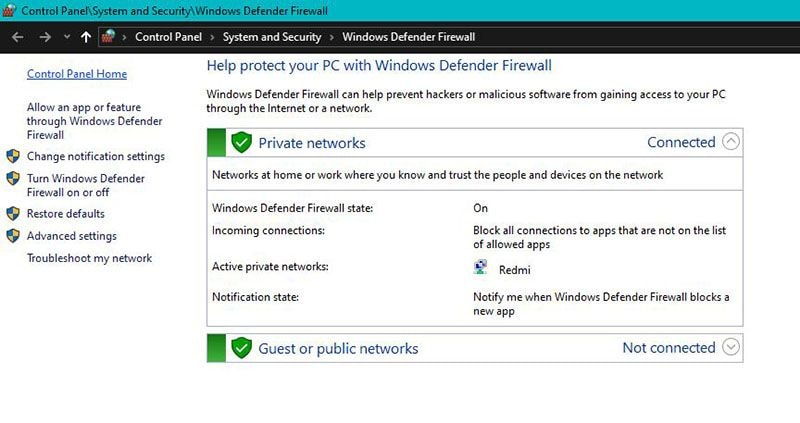 windows firewall 2