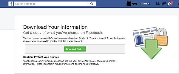 facebook archive download