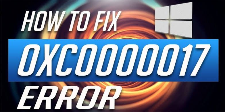 fix windows error 0x0000017
