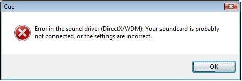 error sound drive