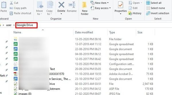 local-google-drive-folder-in-computer