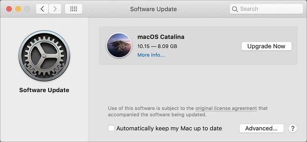 MacBook Software Update