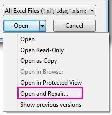 Öffnen und Reparieren Tool