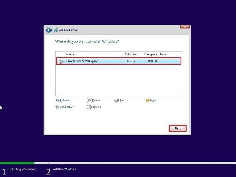 perform clean windows install 8