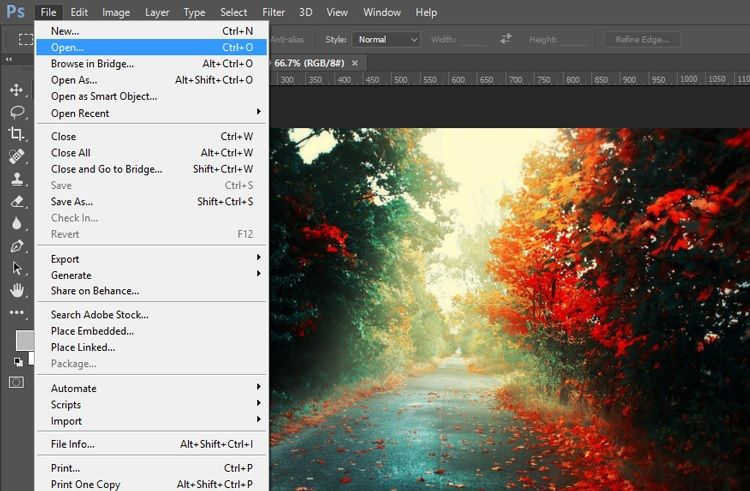 open jpeg file in photoshop