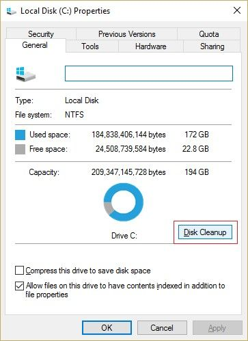 run disk cleanup 2