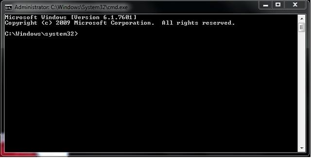 command prompt window