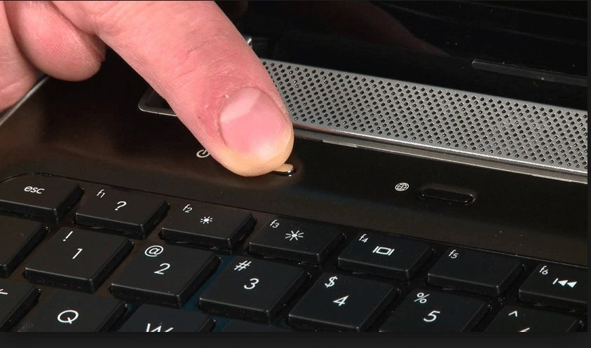 tap and hold the power button