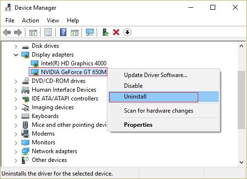 uninstall graphics card driver 2