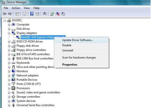 atualizar software de driver