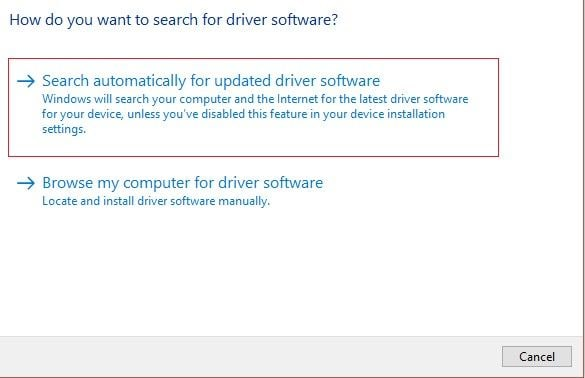 update drivers via device manager 3