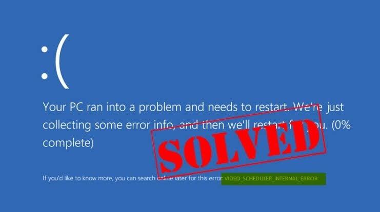 video scheduler internal error