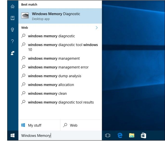 windows memory diagnostics 1