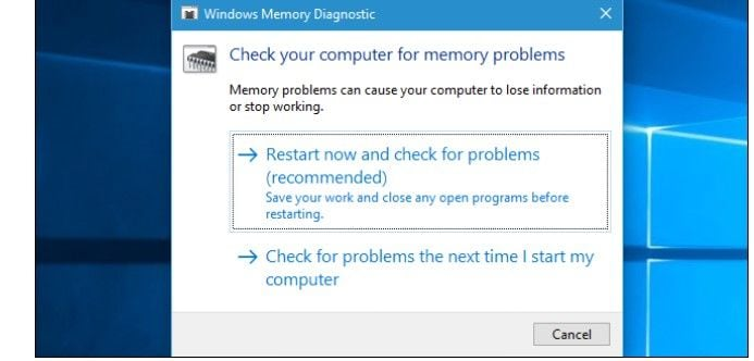 windows memory diagnostics 3